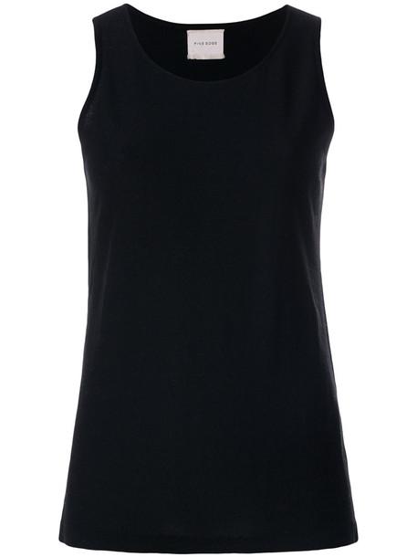 Fine Edge - knit tank top - women - Merino/Virgin Wool - M, Black, Merino/Virgin Wool