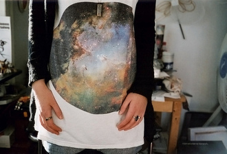 shirt white galaxy t-shirt science