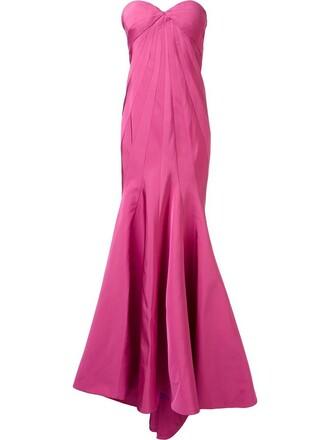 gown women silk purple pink dress