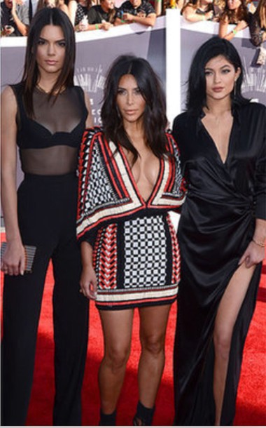 dress kendall jenner kardashians jumpsuit see through kendall and kylie jenner balmain