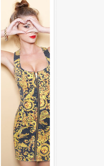navy dress dress yellow dress printed bodycon zipper dress printed dress bodycon zipper nastygal