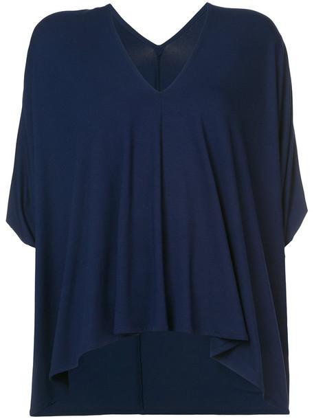 top loose women spandex fit blue