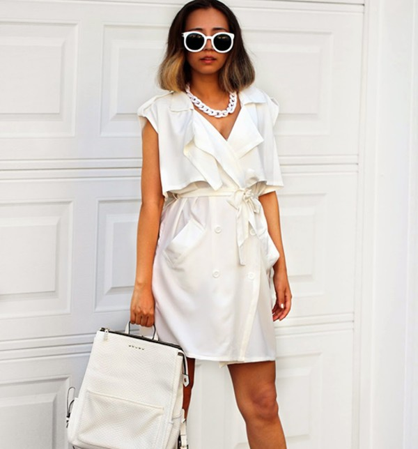 bag white bag leather bag white leather bag stylemoi