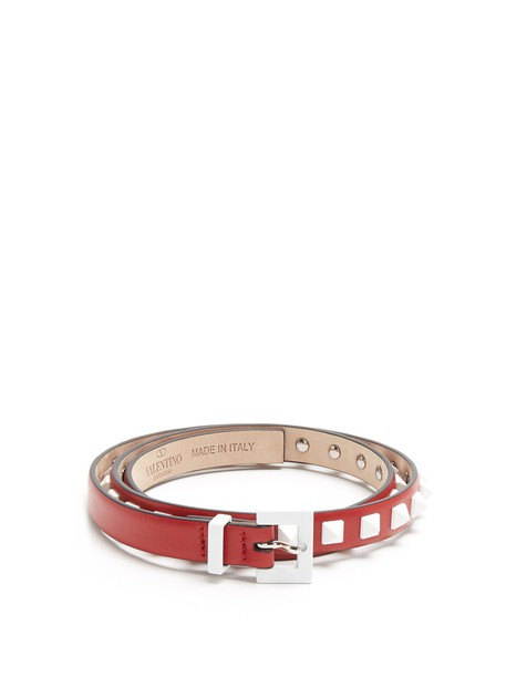 Valentino belt leather red