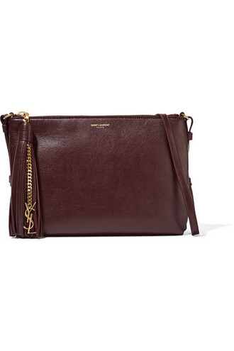 bag shoulder bag leather burgundy