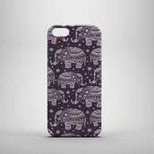 phone cover,elephant,black,white