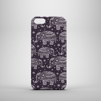 phone cover elephants black white