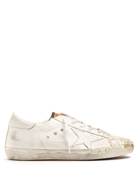 GOLDEN GOOSE DELUXE BRAND top leather gold white