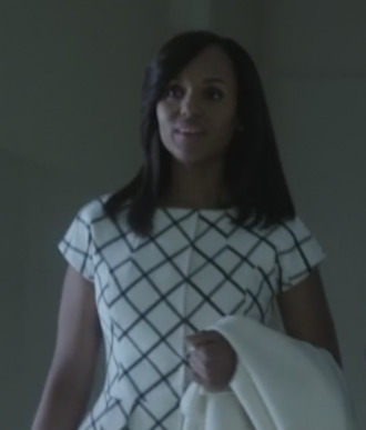 jacket scandal olivia pope kerry washington check jacket peplum jacket
