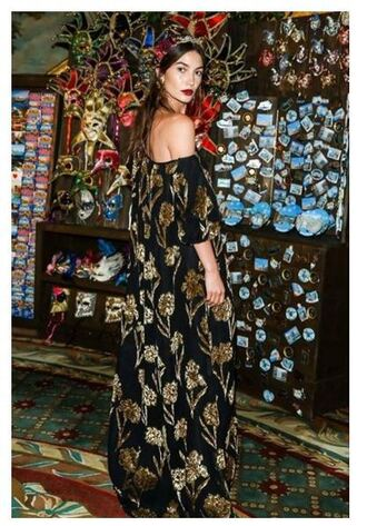 dress off the shoulder gown lily aldridge model velvet velvet dress