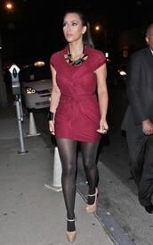 draped dress,kardashians,red dress,dress,draped