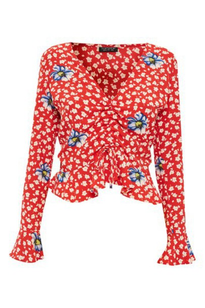 Topshop top floral red