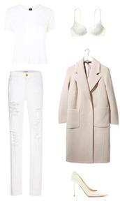 krystal schlegel,blogger,top,underwear,coat,shoes,jeans