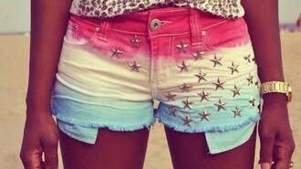 shorts blue white pink silverstars stars tacks