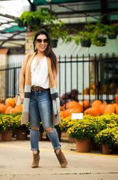 cute & little,blogger,belt,shoes,bag,jewels,dress,sunglasses,gucci belt,booties,cardigan,fall outfits