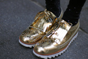 gold,shoes,oxfords