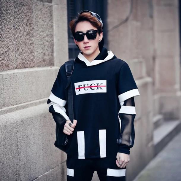Sweater Kpop Korean Fashion Fashion Menswear Tumblr Men 39 S Wear Menswear K Pop Men