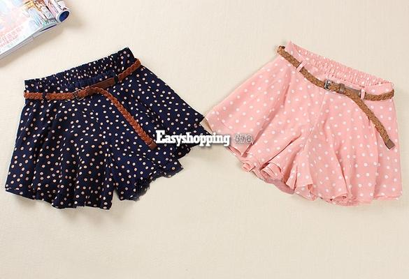 Women High Waist Pleated Dot Polka Chiffon Vintage Short Mini Skirts Dress ES9P | eBay