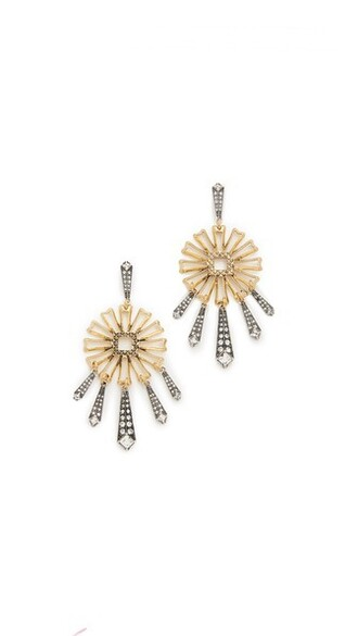 statement earrings daisy statement earrings gold silver jewels
