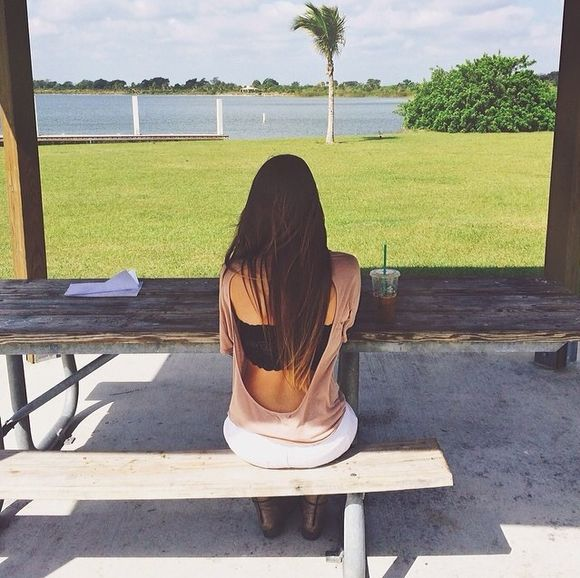 blouse california pink tumblr savannah montano open back