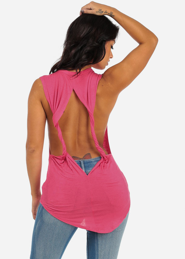 Open back muscle tee