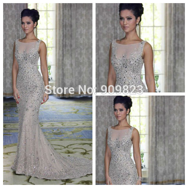 Aliexpress.com : Buy Hot Elegant Grecian Style V Neck Pearls Crystal Beaded Natural Waist Formal Tulle A Line Evening Gowns Dresses New Fashion from Reliable dress summer suppliers on my classic garden