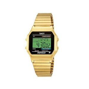 com timex t78677 mens classic digital gold tone expansion band amazon com timex t78677 mens classic digital gold tone expansion band stainless steel bracelet watch watches