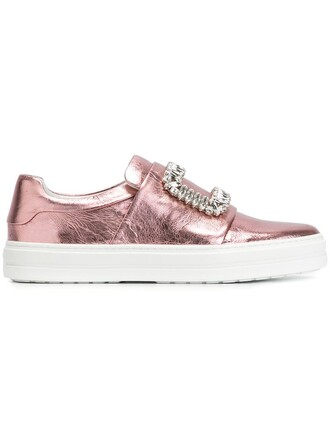 embellished sneakers purple pink shoes