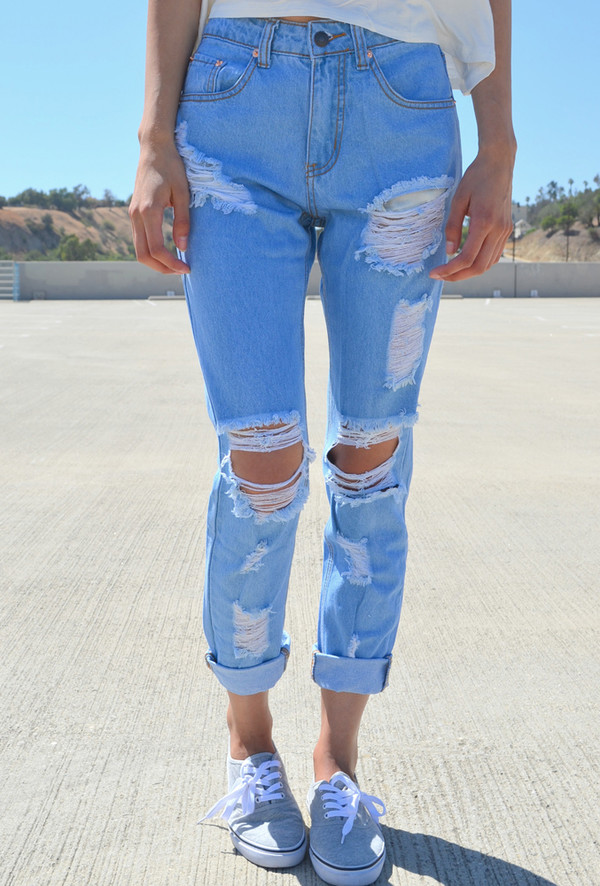 jeans light blue boyfriend jeans denim acid wash light blue boyfriend jeans