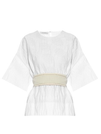 top cotton white black