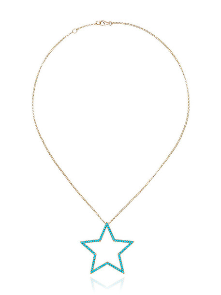 ROSA DE LA CRUZ women necklace gold grey turquoise metallic jewels