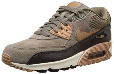 eabe44bdb38c5 Nike Air Max 90 Leather Women's Running Sneakers | Amazon.com