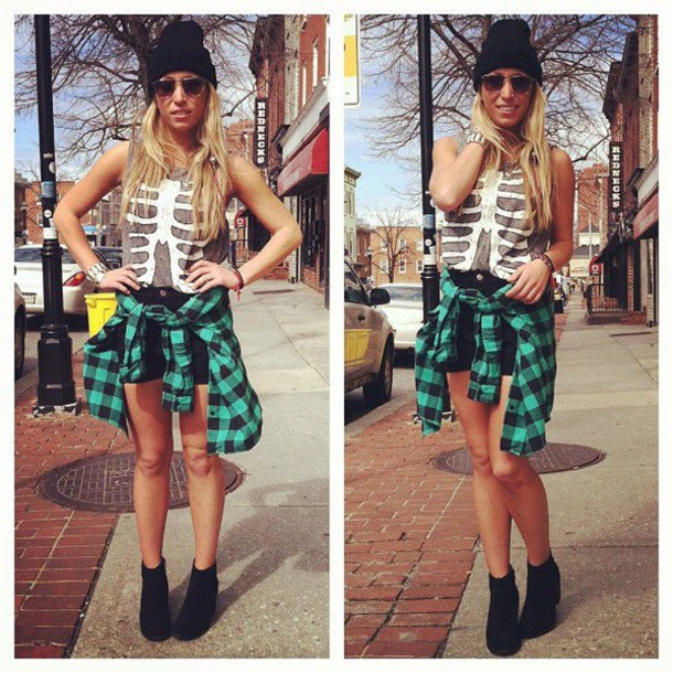 top flannel green green and black plaid shirt