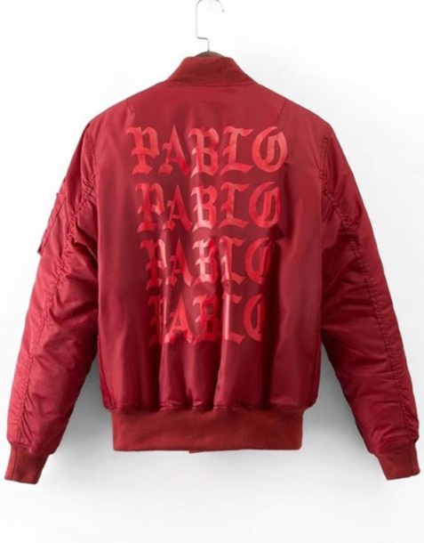 jacket red bomber jacket saint pablom pablo kanye west