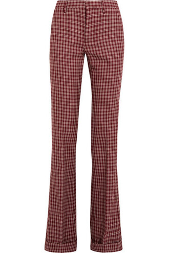 pants wool red