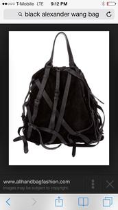 bag,black bag straps alexander wang