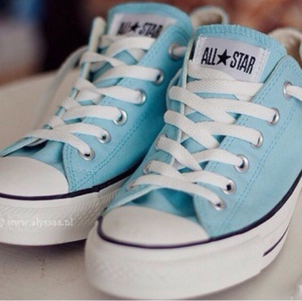 shoes baby blue converse