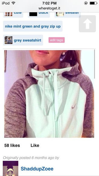 zip jacket nike sweater white pink nike ming green and gray zip up