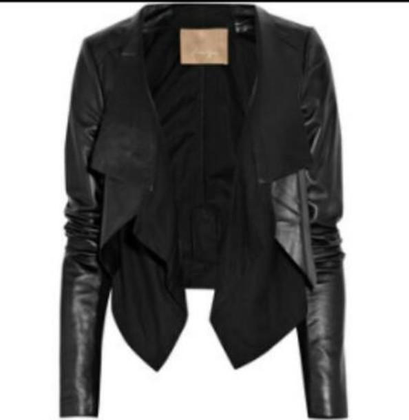 jacket leather jacket cotton black