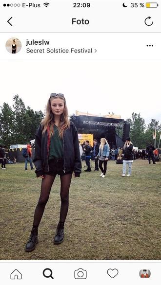 coat black grunge urban outfitters bomber jacket black bomber jacket
