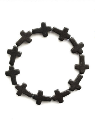 cross black jewels jewels