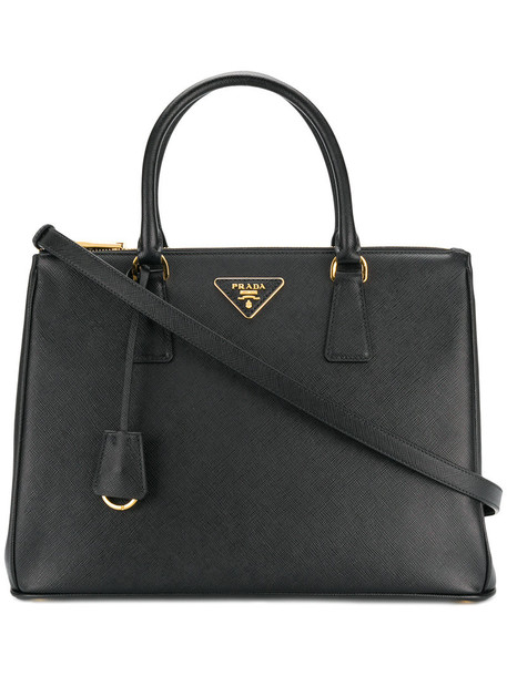 Prada - Bibliotheque Large tote bag - women - Leather - One Size, Black, Leather