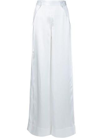 pants palazzo pants slit white