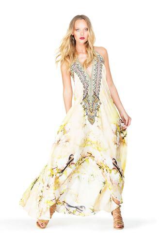 dress floral parides print white bikiniluxe