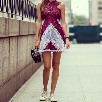 street streetstyle streetwear style girly fashionista outfit beautiful stunning cute dress lace purple romantic perfection lovely inspo love musthave wantie soon perfect