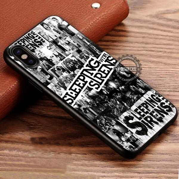 Band Members Collage Sleeping With Sirens iPhone X 8 7 Plus 6s Cases Samsung Galaxy S8 Plus S7 edge NOTE 8 Covers #iphoneX #SamsungS8
