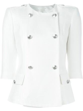 jacket double breasted white