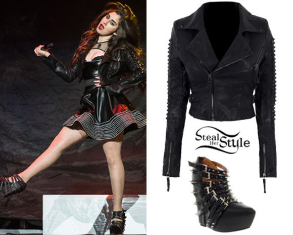 shoes black black heels black outfit black jacket black shoes little black dress Lauren Jauregui Fifth Harmony jacket