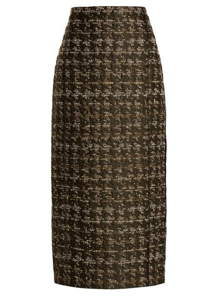 CARL KAPP skirt pencil skirt forest brown