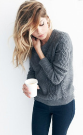 sweater,winter sweater,cute,grey,knitted sweater,grey knitted sweater,grey sweater,charcoal sweater,winter outfits,warm,beautiful